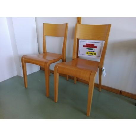 2 sillas haya 166€