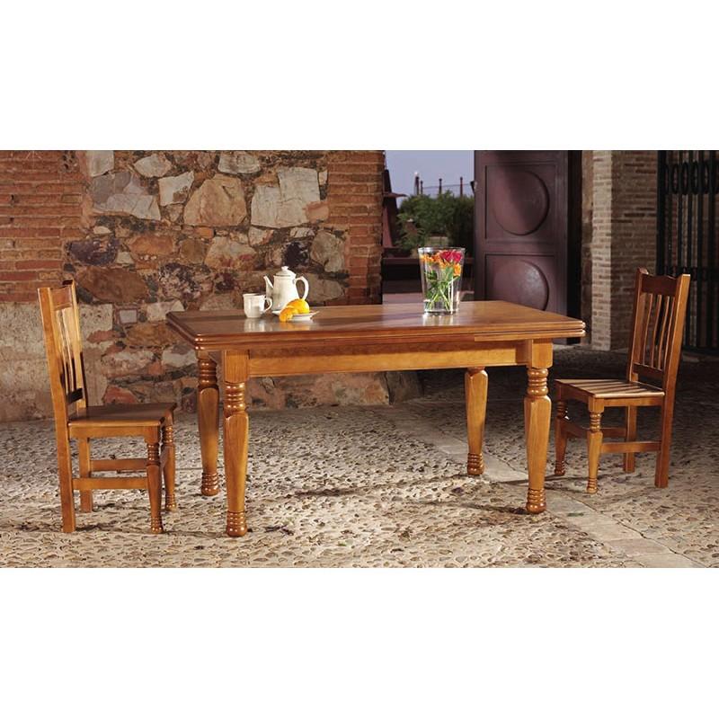 Mesa comedor pino macizo Ref. 752 - Muebles Alarcón